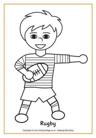 Rugby Colouring Page