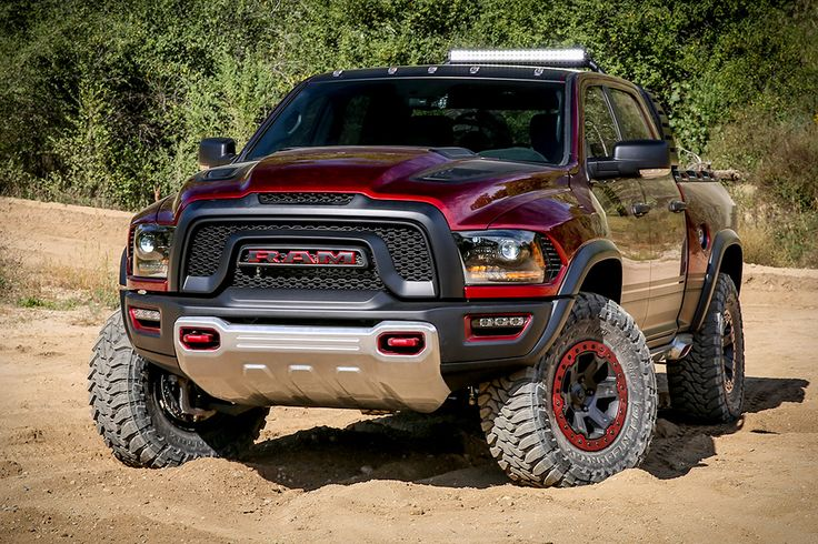 Not satisfied with serious speed on pavement, the Dodge Ram Rebel TRX Concept Truck leverages its powerful engine to send you off-roading at over 100 mph. It's powered by a supercharged 6.2L HEMI V-8 producing 575 hp, mated to a...