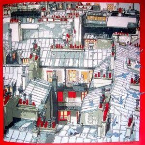 Livre: Le Carré Hermès - Carré: Les toits de Paris by Dimitri Rybaltchenko