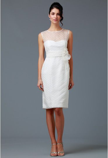 Julep Dress with Flowe, dots in sheer organza, off white - Siri Inc, SF