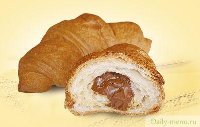 Французские круассаны с шоколадом
