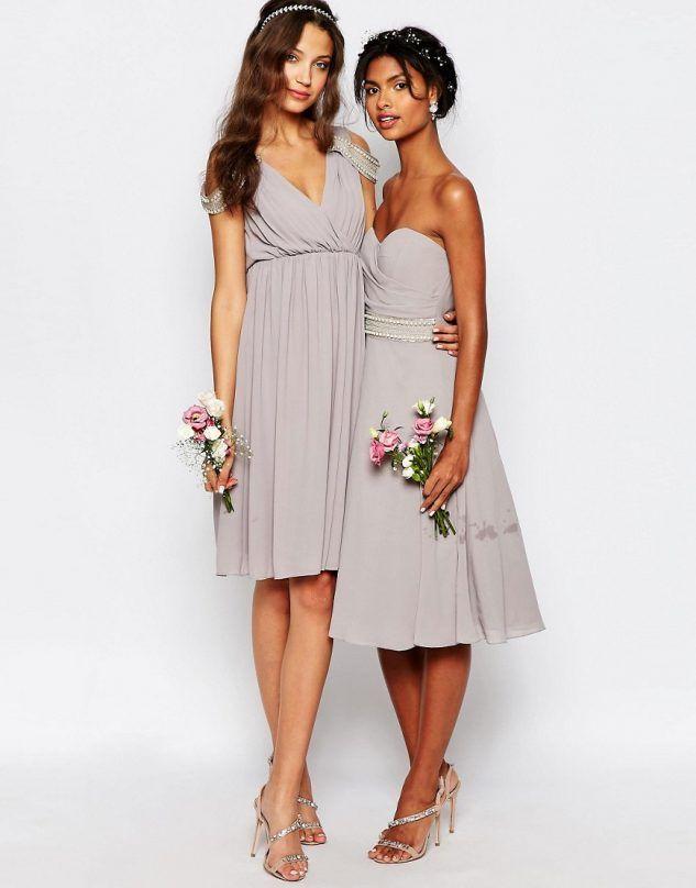 Tall bridesmaid dress in purple on Pretty Long
