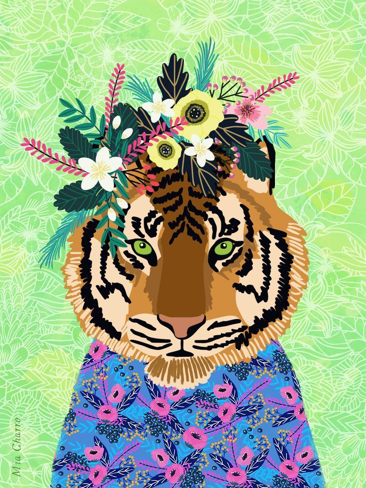 Billedresultat For Jungle Flowers Jungle Art Art Tiger