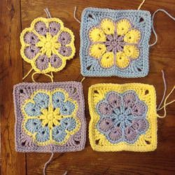 WIP Sunday - What's on Your Hook? Week 2 Entry  African Flower with 8 Petals (Square) by Nicole Hancock  Free Pattern