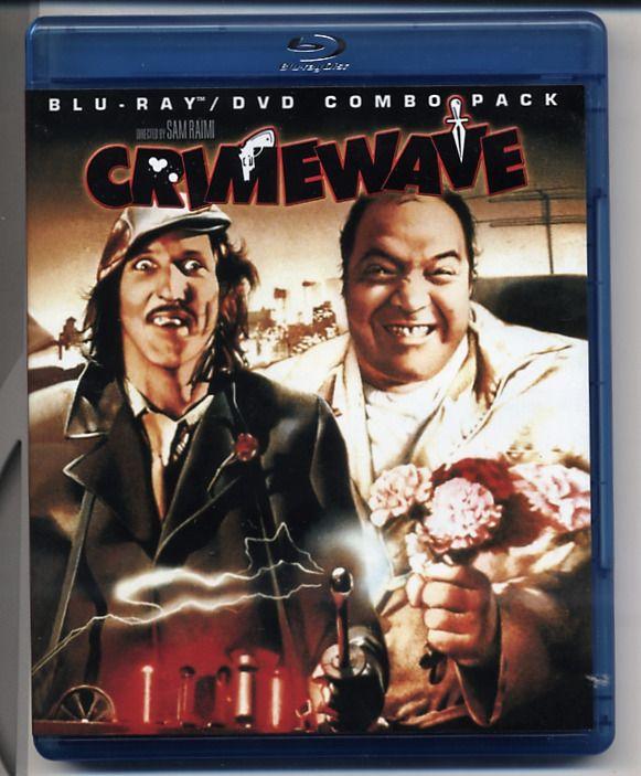 CRIMEWAVE 1986 Blu-ray/DVD combo SAM RAIMI JOEL COEN BROS Bruce Campbell