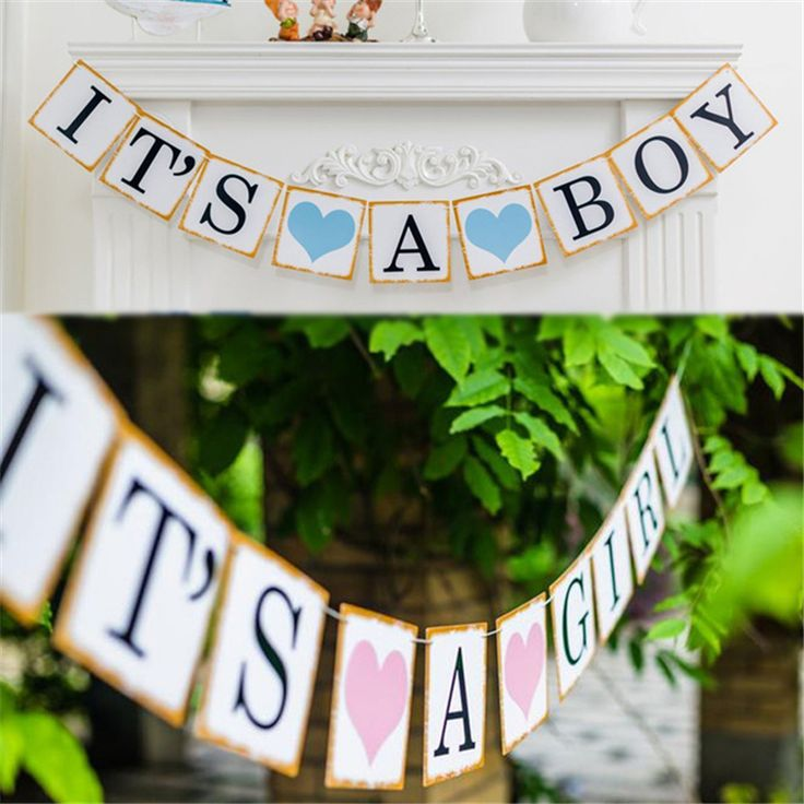Iridescent Paper Photo Props Girl Boy Baby Shower Banner Its A Boy Girl Bunting Garland Rustic Chic Party Hanging Decoration //Price: $9.95 & FREE Shipping //     #hashtag3