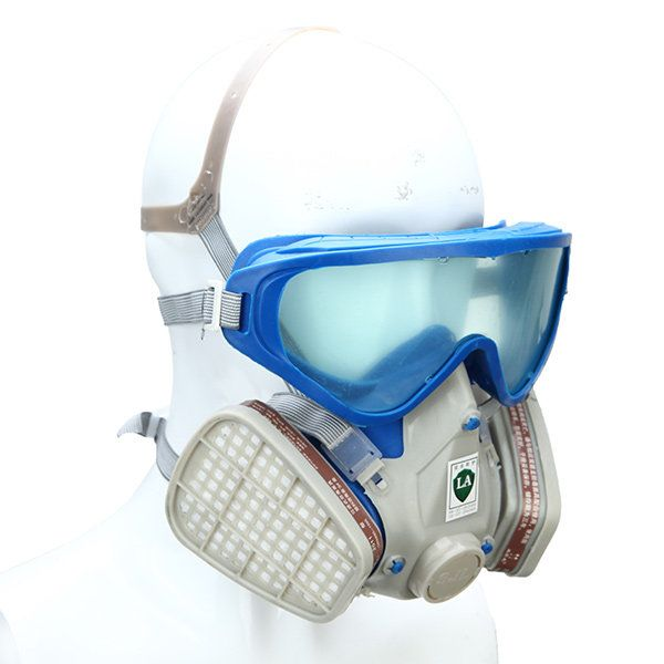 Silicone Full Face Respirator Gas Mask & Goggles Comprehensive Cover Paint Chemical Pesticide Mask Dustproof Fire Escape Sale - Banggood.com