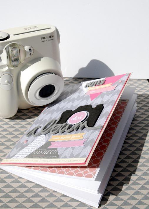 Le mini-album créé par Natalia avec le #printable offert. ► La planche d'étiquettes offerte est à télécharger sur le blog !