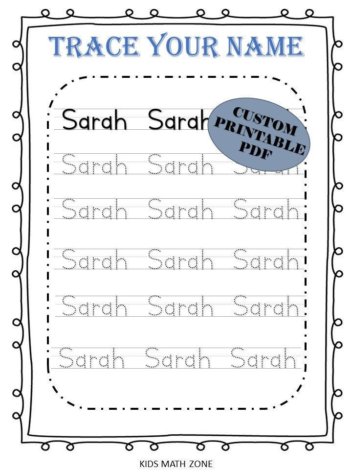 Personalized Trace your name Worksheets / Custom Name ...