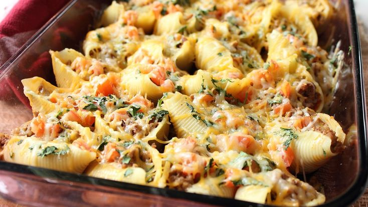 All you need for this tasty, taco-inspired pasta bake is a 13 x 9 and 30 minutes.