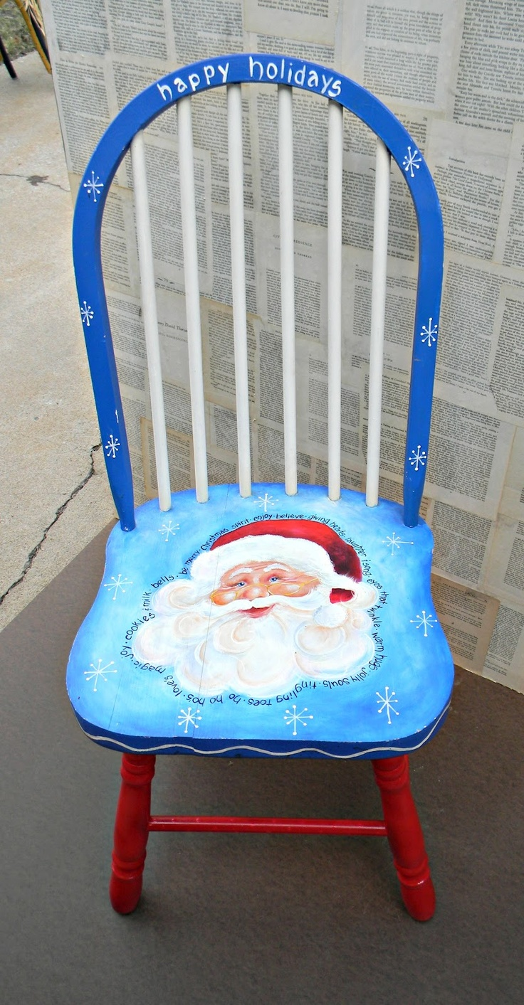 Christmas chair back covers - Christmas Chairs In October By 20 North Ora