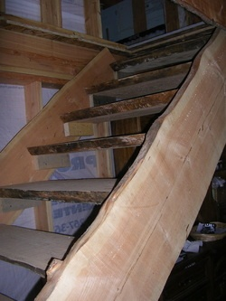 Wood Slab Stairs Log Home Design Ideas Pinterest