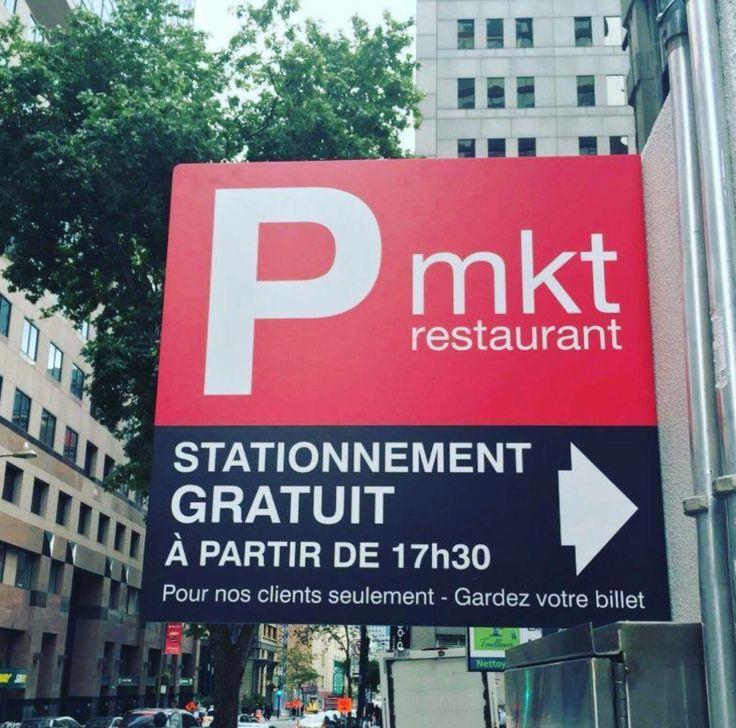 #free #parking after 5:30 pm #stationnement #gratuit à partir de 17h30  #restomkt #restomtl #montreal #mtl #montrealmoments #perfectnight #1