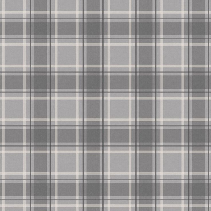 I Love Wallpaper Tartan Wallpaper Soft Grey / Charcoal - I Love Wallpaper from I love wallpaper UK