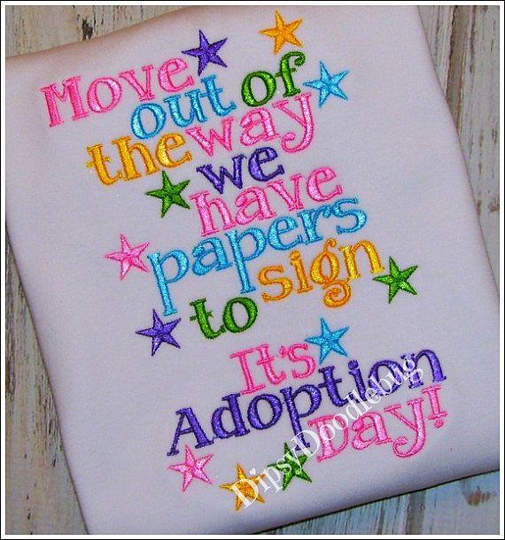 Adoption Day Girls or Boys Shirt by DipsyDoodlebug on Etsy, $23.00