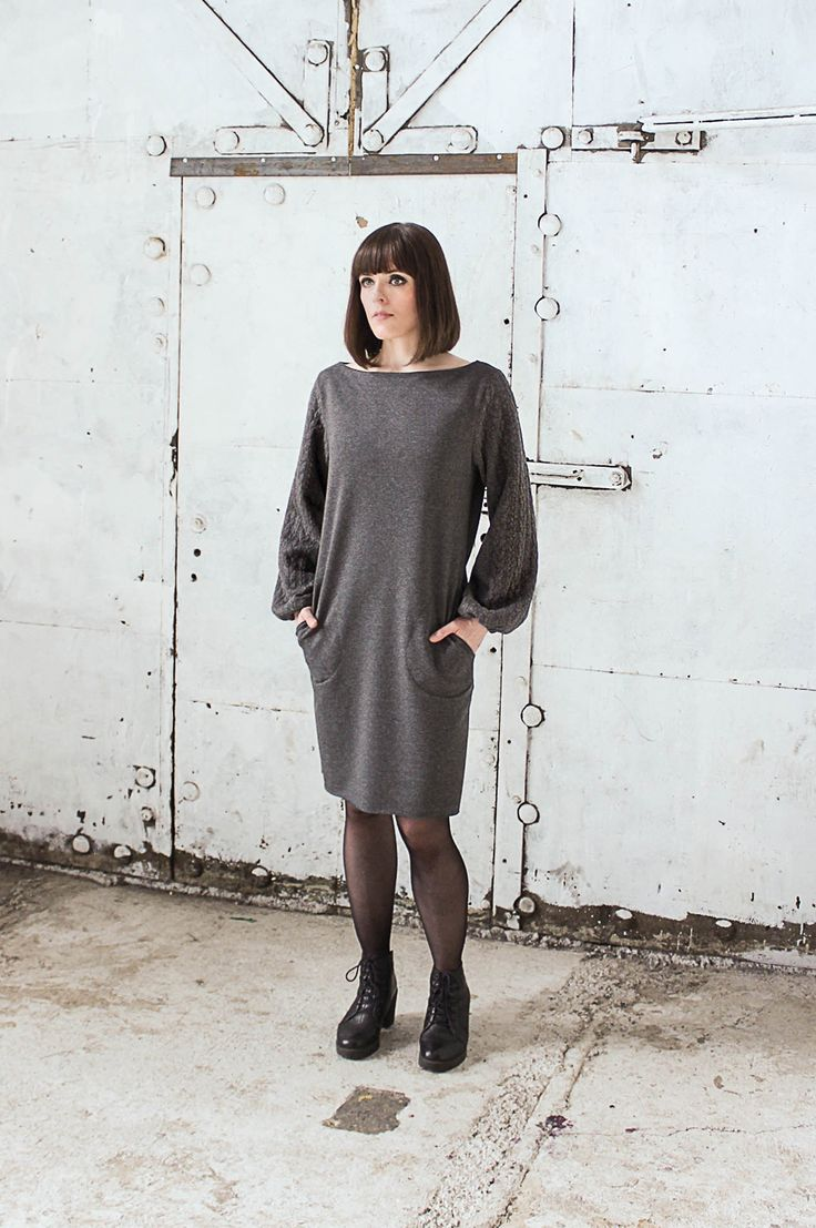 Bailey is a loose fitting beauty that has an even knit on the body part and a beautiful braid detail knit on the sleeves. The sleeves are loose fitting and gathered at the wrist. Bailey has pockets on the sides. Grey Bailey is made of body 55%Polyester 40%Cotton 5%Elasthane Sleeves 81% Polyester 16%