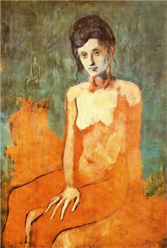 Seated female nude - Pablo Picasso