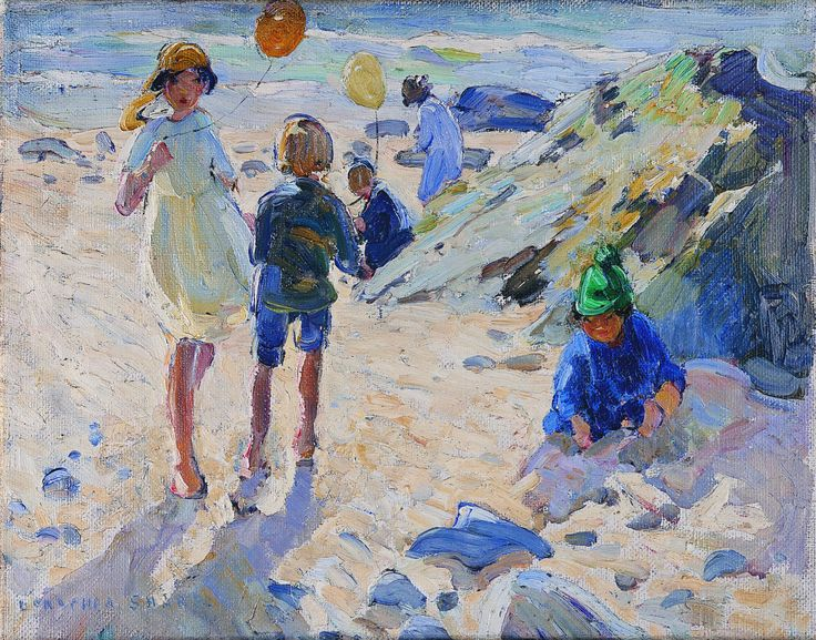 Children, Dorothea Sharp, Oil on canvas, on loan from the Waterford Municipal Art Collection. Selected by Bronagh Kelly.