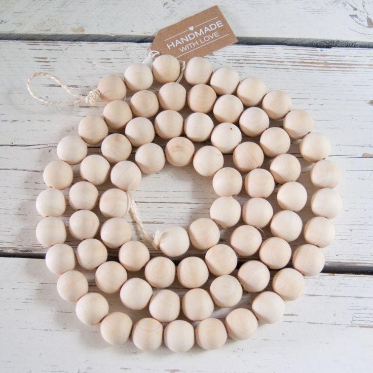 Woonketting houten kralen XL - 1.80 cm
