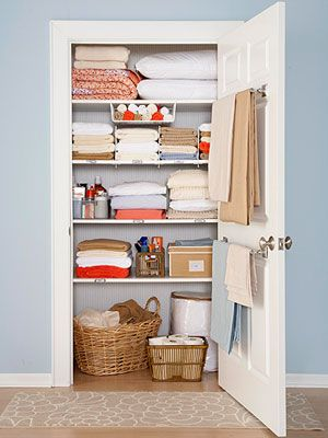 The Linen Closet    The Fix Linen Closets Usually Suffer From Having Too  Much Stuffed