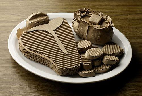 cardboard food sculptures - Google Search