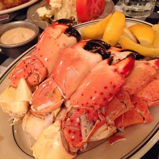 Check Out Joe\'s Stone Crab in Miami, FL as seen on Man vs Food and featured on TVFoodMaps. Known for Adam has Joe's Jumbo Stone Crab Claws. Joe's discovered stone crabs in the 1920s, and since then a meal at Joe's has become a Miami must.