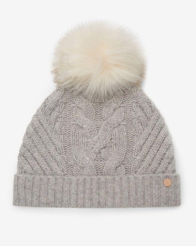 Pom-pom bobble hat - Mid Grey | Hats | Ted Baker FR