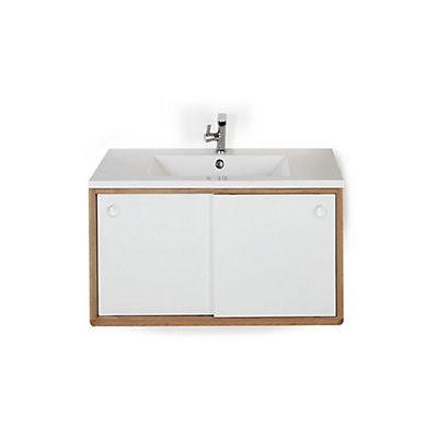 Meuble de salle de bains moderne en chêne (80 cm)