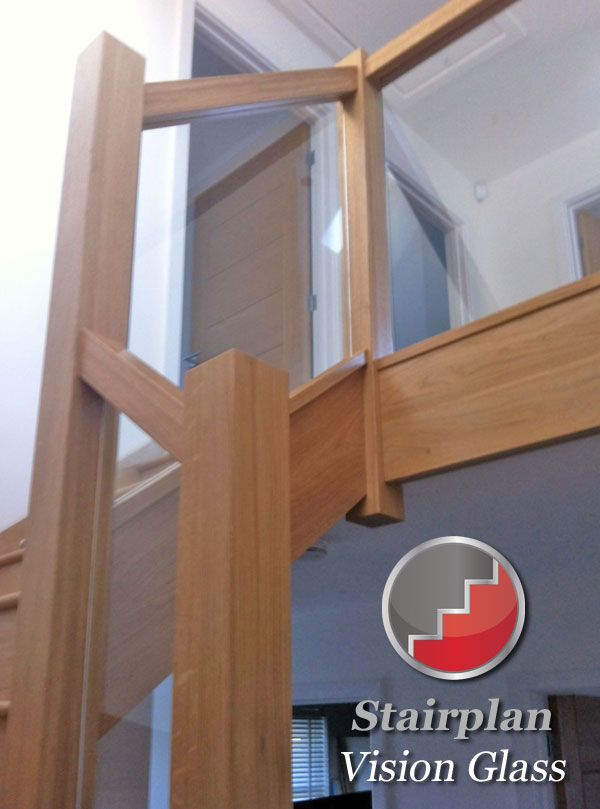Glass And Wood Banister From Stairplan Stairs