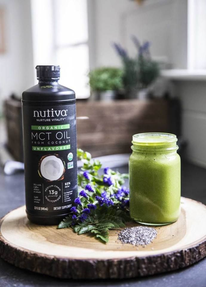JoyVIV#TIP - Add Nutiva Organic MCT Oil or Coconut Oil to any green smoothy to instantly transform it into an energy boosting meal replacement. #MCT #MCToil #smoothie