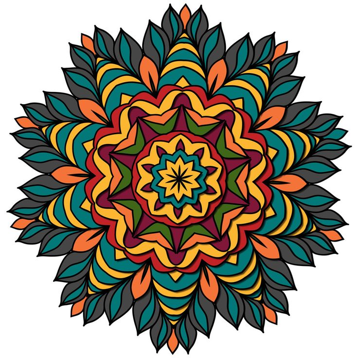 Fiesta Mandala ColorMe Decal