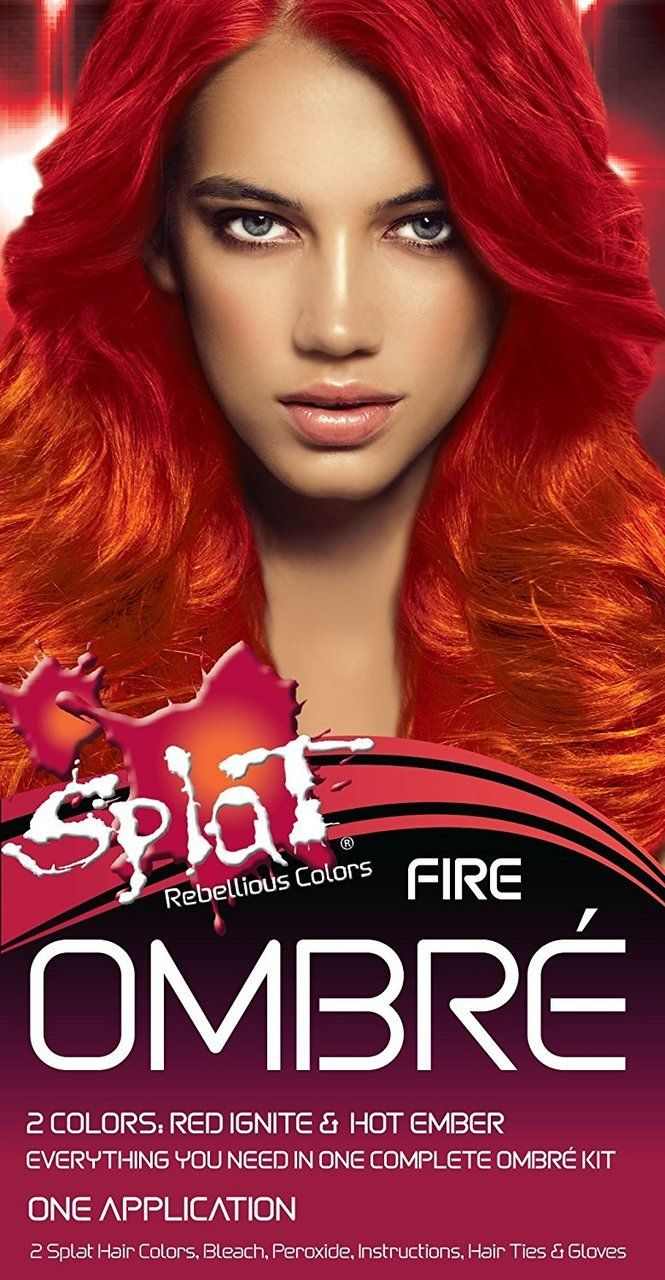 Splat Rebellious Colors Fire Red Ignite Hot Ember Hair Dye Kit Fire Hair Dyed Hair Ombre Ombre Hair Color