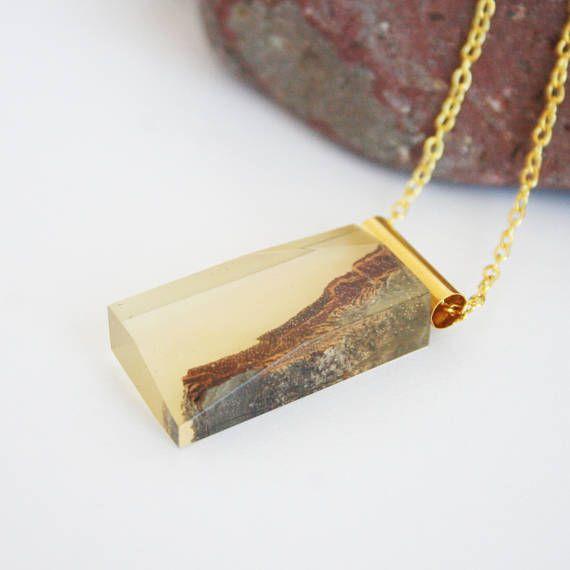 Boho Bohemian Style Geometric Handmade Natural Plum Bark Wood