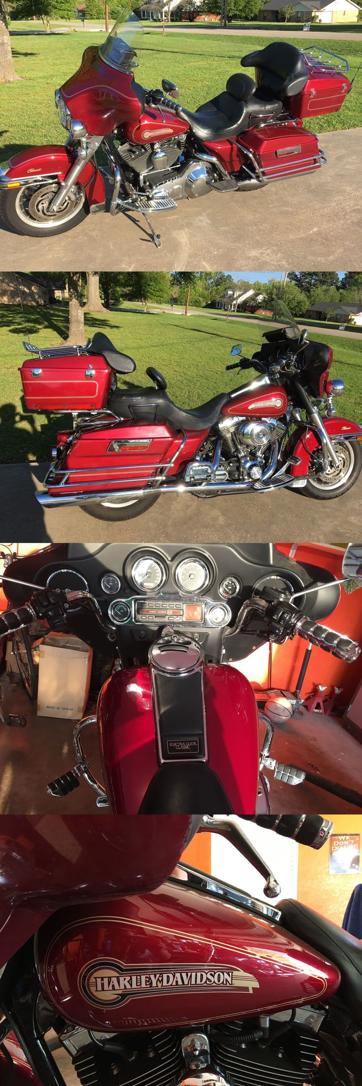 Motorcycles: 2005 Harley-Davidson Touring Red Harley Davidson Touring Bike Electra Glide Classic Flhtci -> BUY IT NOW ONLY: $7650 on eBay!