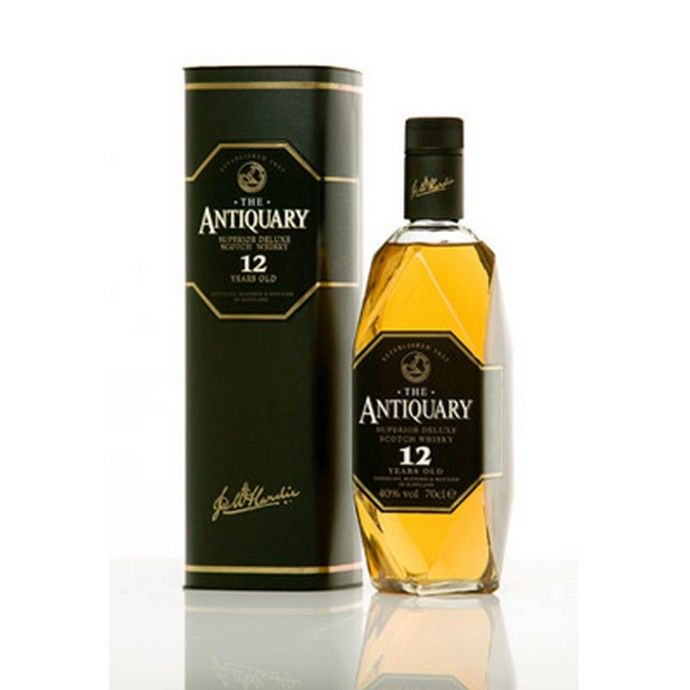 Antiquary 12yo Whisky - premium blend whiskey available to buy online from Bakers and Larners.