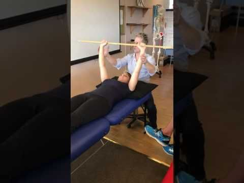 How to assess and treat a painful shoulder joint using accessory motions / glides - YouTube
