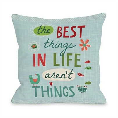 The Best Things Ozsale Blue Multi 16x16 Pillow-73296PL16-Blue-Multi