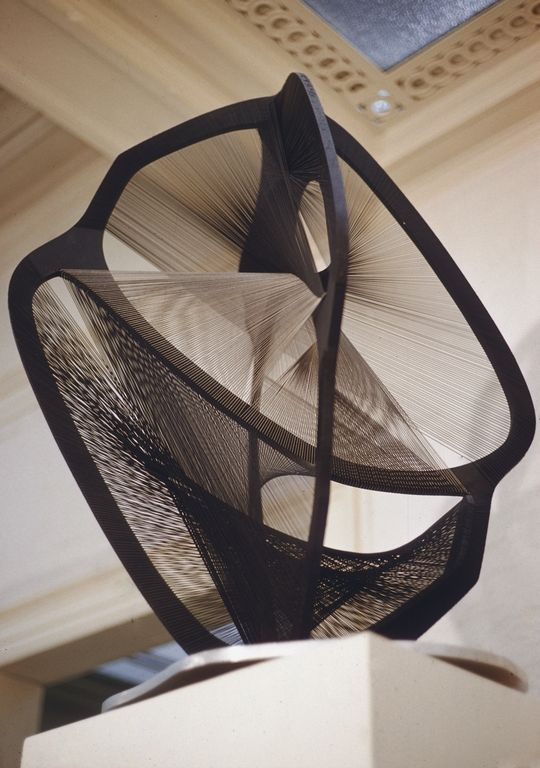 Naum Gabo, Linear Constuction Number 4 in Black and Gray, 1954-59