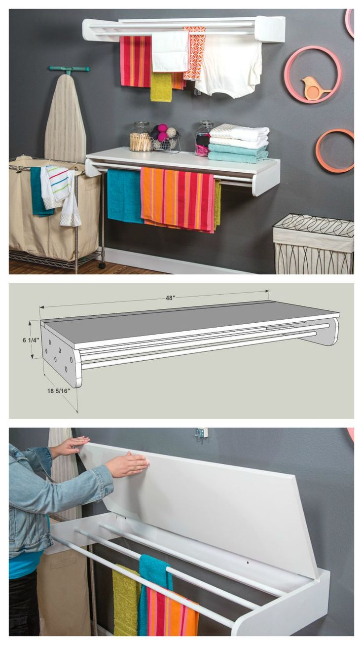 DIY Laundry Drying and Folding Rack :: Find the FREE PLANS for this project and many others at buildsomething.com