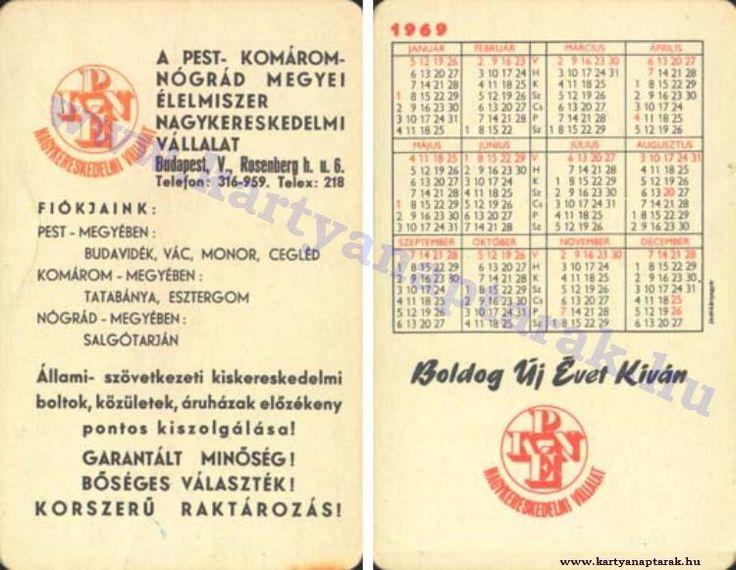 1969 - 1969_0277 - Régi magyar kártyanaptárak