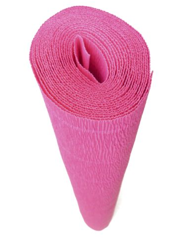 Fantastic company!!!  sales crepe paper in long sheet rolls. Only $7.00 for a regular color. Metallics are more. Italian Crepe Paper roll 180 gram - 551      HOT PINK
