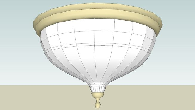 Large preview of 3D Model of Light_ceiling_dome   - IRender Ready