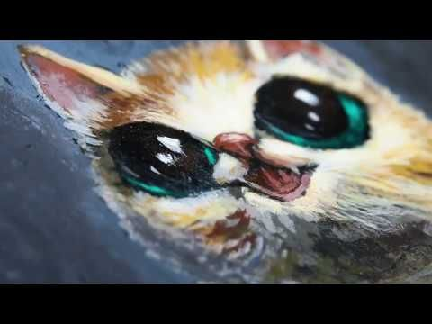Chubby Cat Illustration Timelapse Painting  Hello art lovers,  Here is a painting of a baby cat. It's a timelapse of a chubby cat with big eyes. A friend of mine was kind enough to buy it.  Shop link  www.roomenrichment.com  Thank you for watching. I hope you enjoyed.