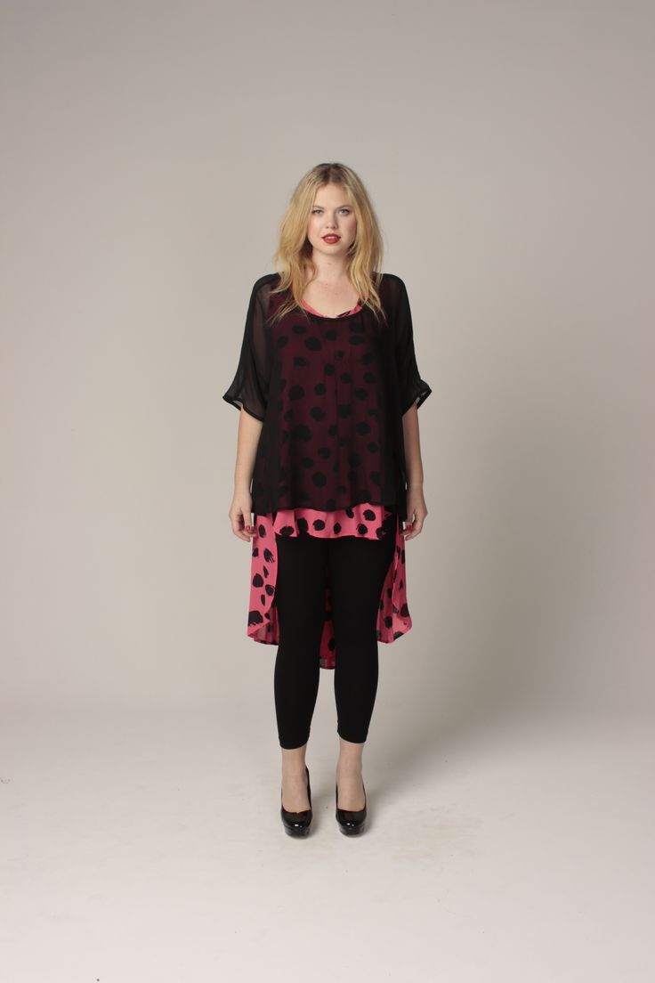 TCD spring 13 - scarlet top, tux deluxe and ankle leggings. curvy summer fashion  size 12 -24