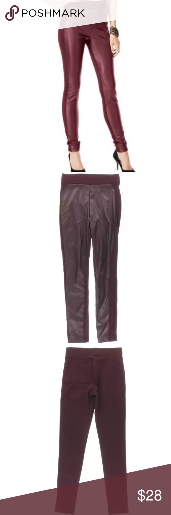Maroon Faux Leather Skinny Leg Leggings Manufacturer color is Port Inseam is 29 1/2 Inches Rise is 9 1/2 Inches Hips Across is 15 1/2 Inches Leg Opening is 9 1/2 Inches Material is 65% Rayon/30% Nylon/5% Spandex Faux Leather. Bundle for discounts! Reasonable offers considered. Thank you for shopping my closet! INC International Concepts Pants Leggings