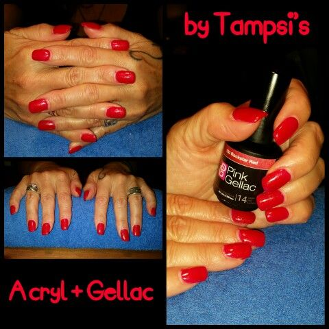 Acryl with gellac from Pink Gellac on Laura Weijzig's nails by Tampsi's