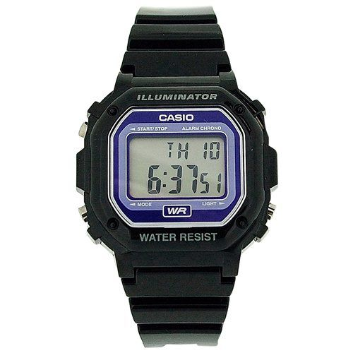 CASIO F-108W Unisex Digital Illuminator Multi Function Black Watch Xmas Gift