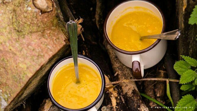 Aromatyczna zupa z dyni pieczonej