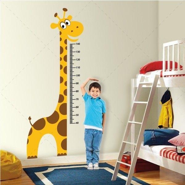 Régua de crescimento Girafa - vinil autocolante decorativo em impressão digital - www.iconstore.pt