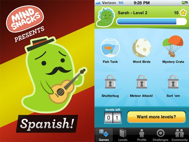 Spanish games for tablets and mobiles